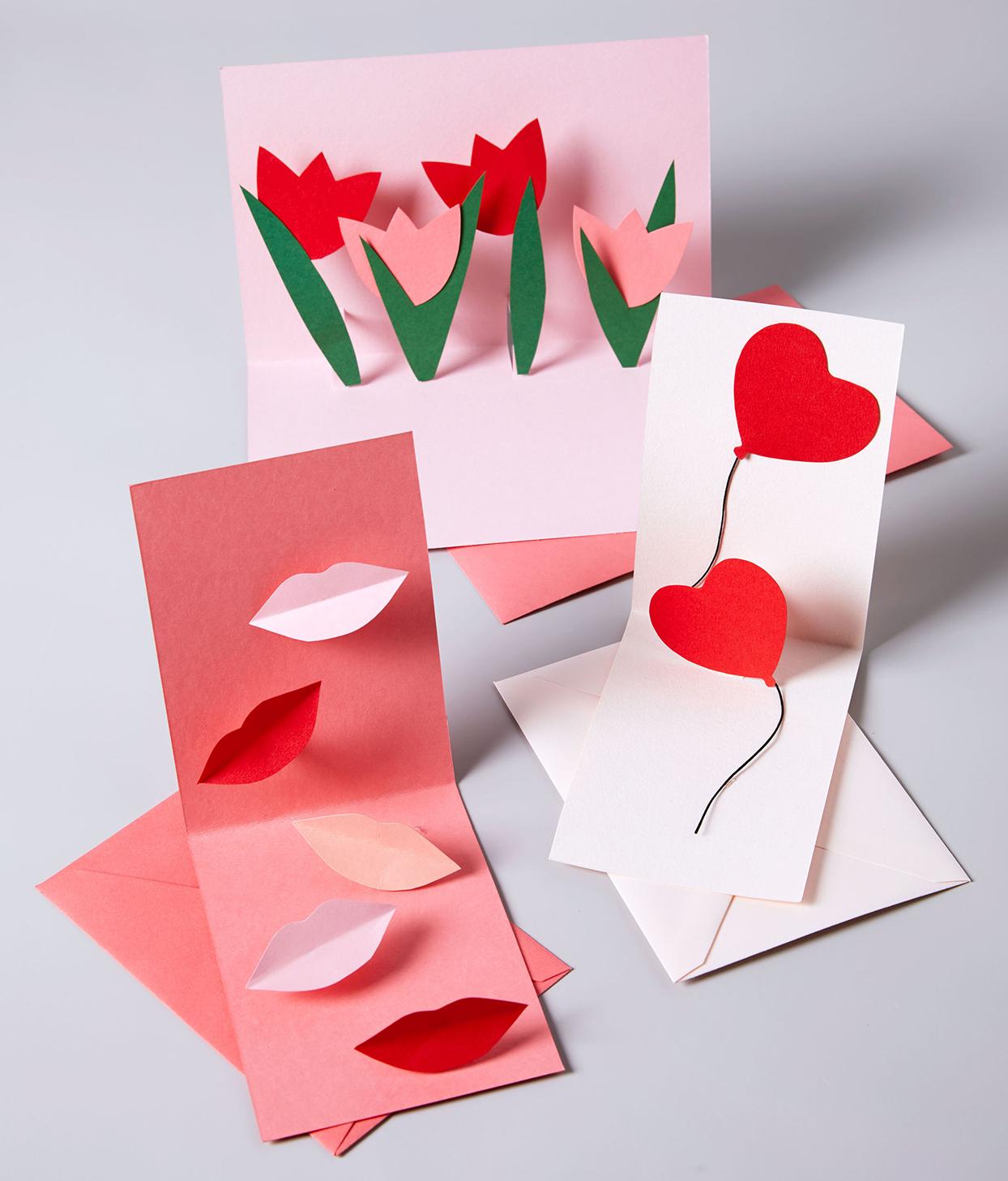 Как сделать открытку своими руками на день святого валентина маме