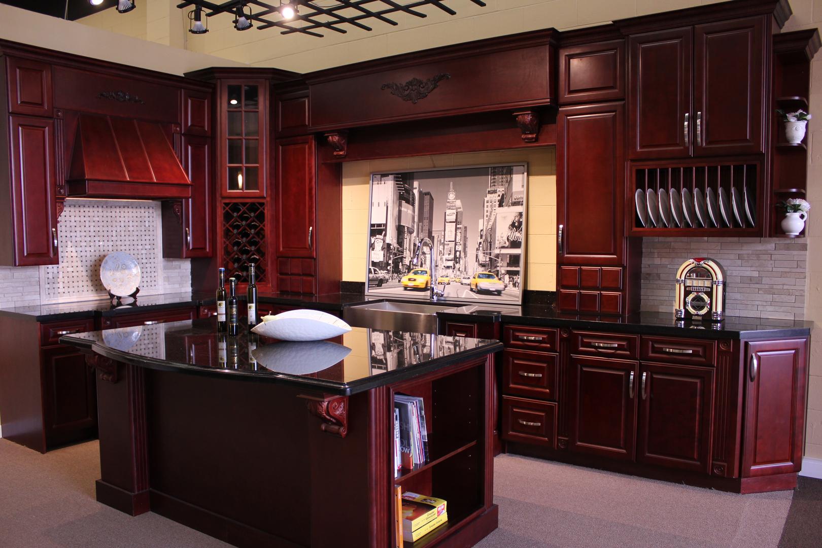 кухни вишневого цвета фото размещайте рядом