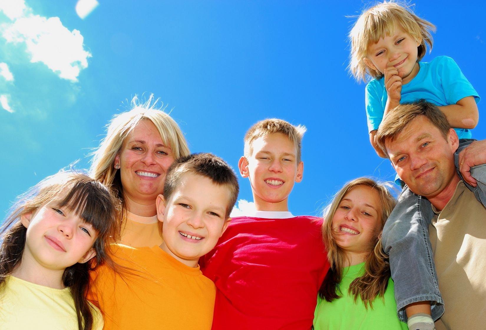 Фото реальных людей с детьми