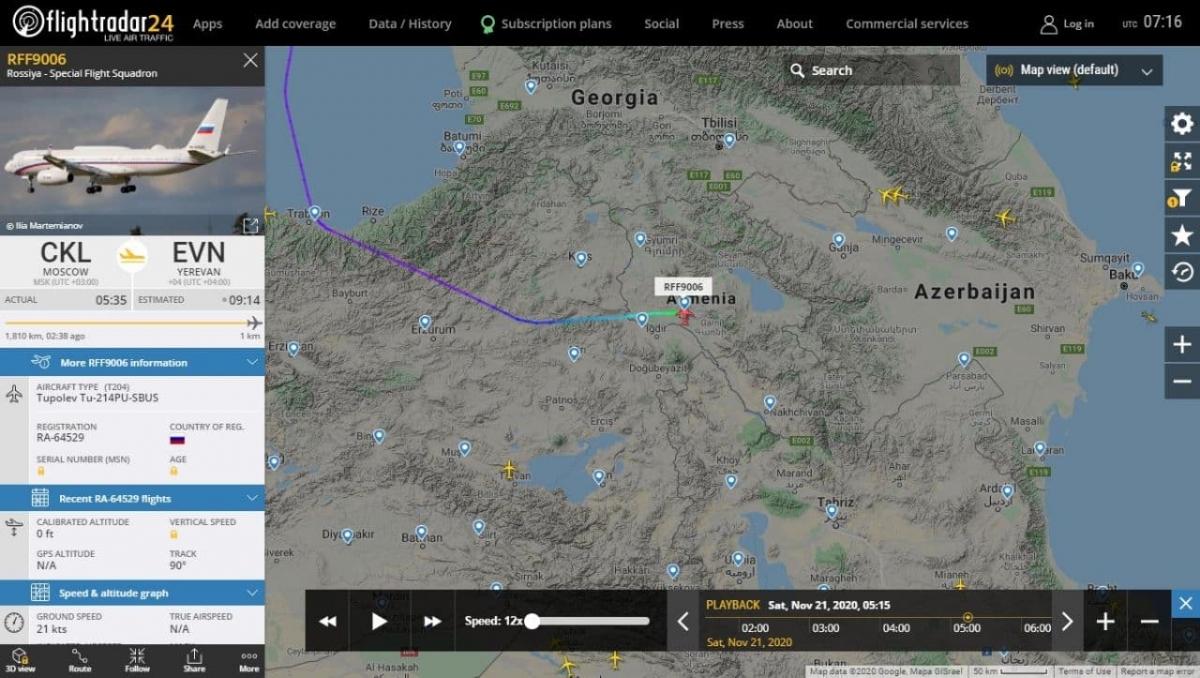 Авиация НАТО устроила провокацию с самолетом Лаврова и Шойгу во время визита в Ереван
