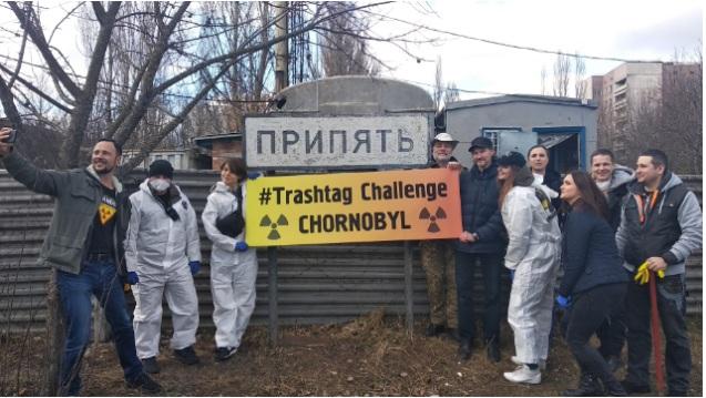 TrashTag Challenge прибрались в Чернобыле