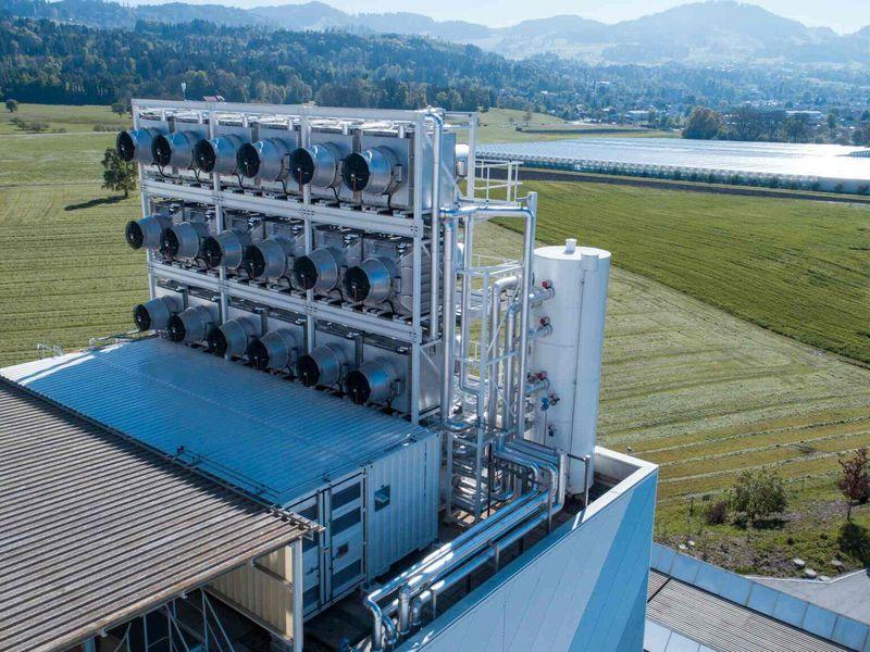 Установка по улавливания углекислого газа из воздуха