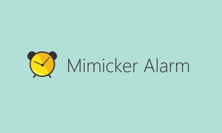 Будильник и надпись Mimicker Alarm