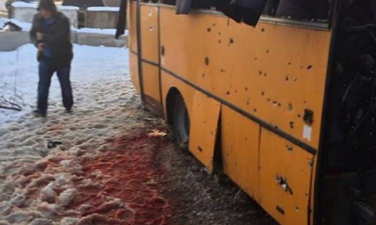 Волноваха, обстрел автобуса, 13.01.15, последние новости 14 января: фото, видео