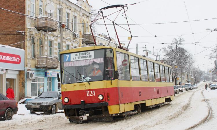 В Ростове трамвай № 7 в январе