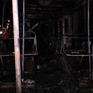 В Москве сгорели три троллейбуса