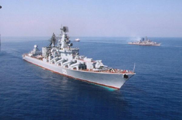 """К этим трем судам Черноморского флота в этой миссии присоединится АПЛ К-410  """"Смоленск """" Северного..."""
