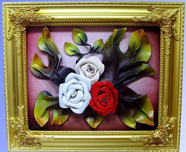 Цветы из кожи кКакие подарки можно сделать