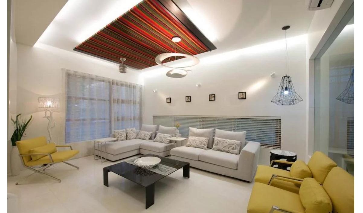 Стильный дизайн потолка фото