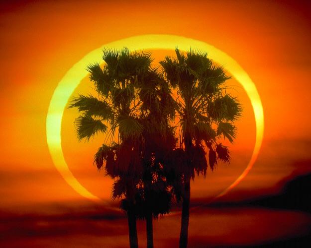 """Солнечное затмение """"Огненное кольцо"""""""