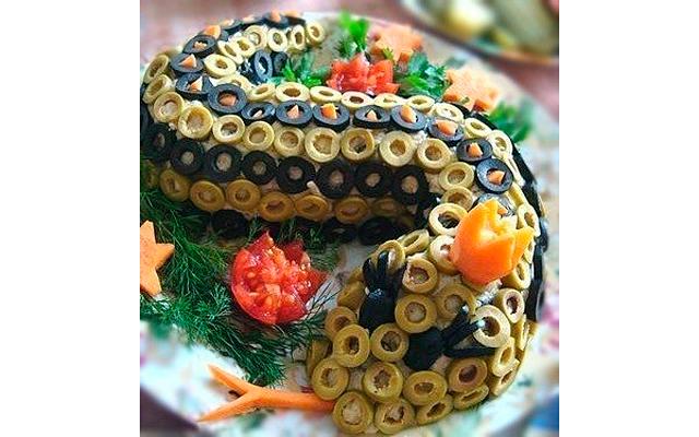 Рецепт салата Змея - 10 фото