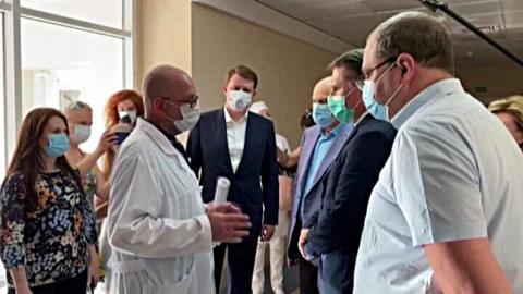 Глава Минздрава РФ Михаил Мурашко посетил основной COVID-госпиталь Сочи