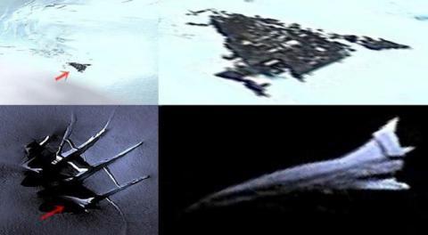 два странных объекта в Антарктиде