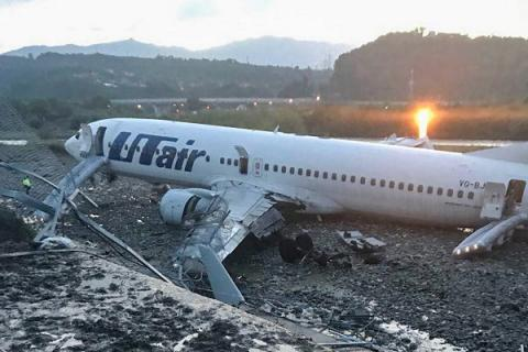 авария самолета в Сочи
