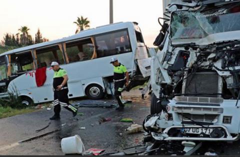 В турецкой Анталье произошло серьезное ДТП – пострадали 13 туристов из России