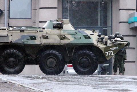 БТР в центре Луганска