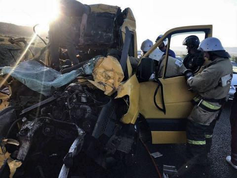 Авария с микроавтобусом