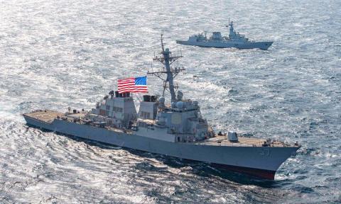 """Американский эсминец """"Джон Маккейн"""" провокация США"""