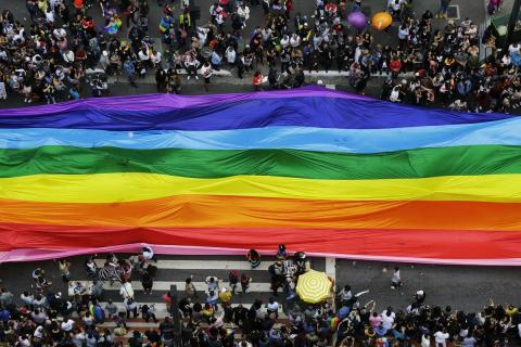 радуга флаг ЛГБТ парад