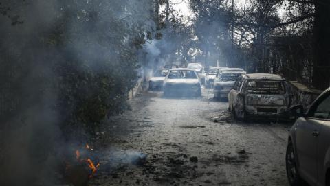 В Греции из-за пожаров погибли 79 человек, среди них много детей