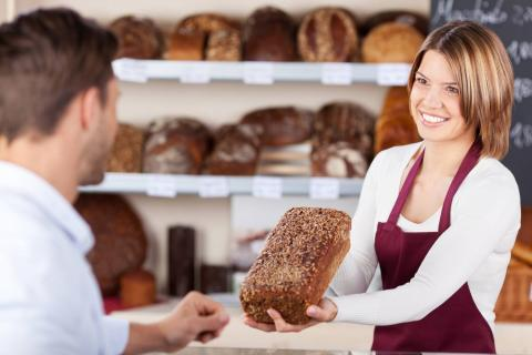 Хлеб в магазине