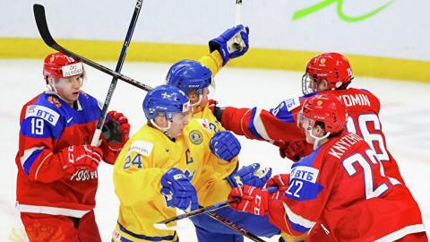 Хоккей молодежка 2020 - Россия Швеция