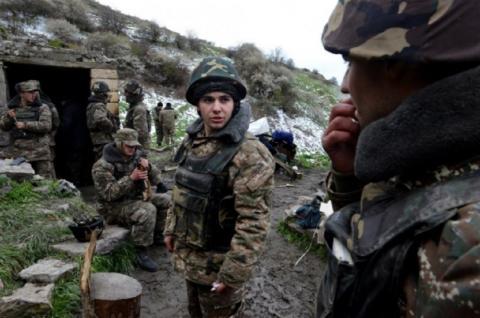 Нагорный Карабах, армия Армении, конфликт