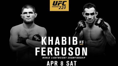 Бой Хабиб Нурмагомедов  – Тони Фергюсон: когда – время и дата, прогноз на бой в рамках турнира UFC 223