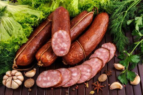 Колбаса разных видов