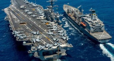 крейсер ВМС США и морское судно картинка