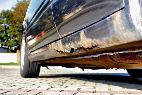 Коррозия пороги автомобиль