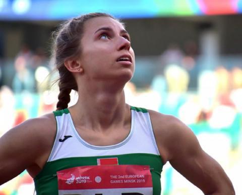 Легкоатлетка Белоруссии Кристина Тимановская