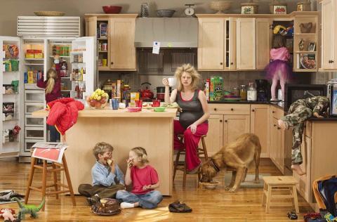 Домохозяйка в квартире