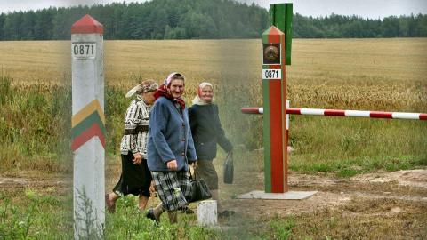 Участок литовско-белорусской границы