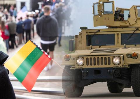 В Литве решили бороться с мигрантами с помощью бронетехники