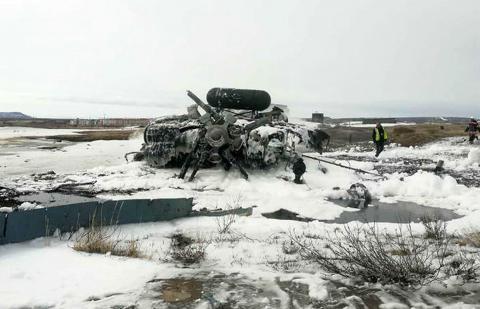 Место крушения военного Ми-8
