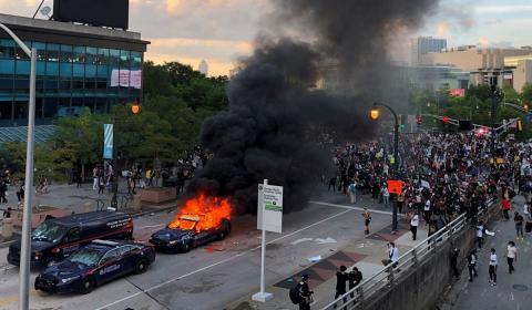 беспорядки в Миннеаполисе картинки