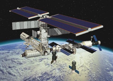 Орбитальная станция на орбите
