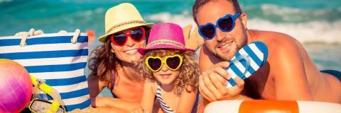 Пляж отдых семья