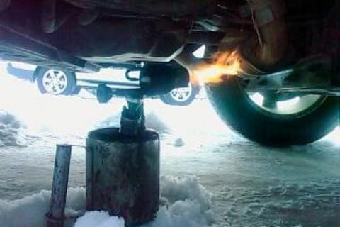 отогрев автомобиля зимой картинка