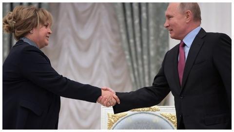 Встреча Путина и Памфиловой