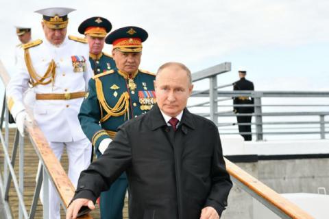 Парад ко Дню ВМФ 2021 Владимир Путин