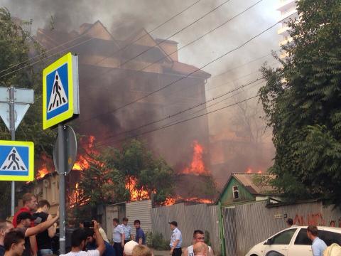 Крупный пожар в Ростове