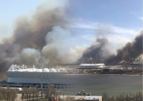 Пожар Ростов камыш