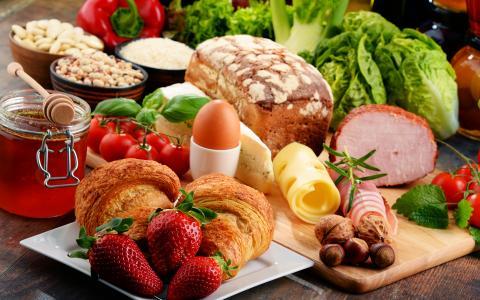 продукты питания стол мясо овощи