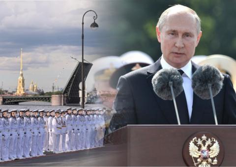 Путин и парад в честь Дня ВМФ