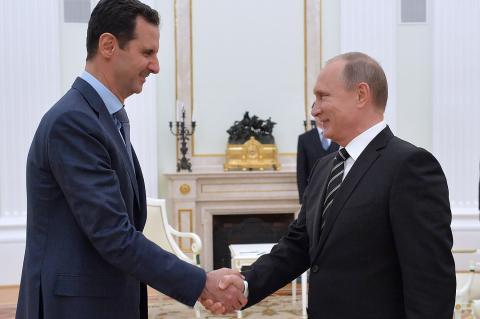Путин Асад встреча