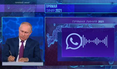 Прямая линия с Владимиром Путиным в 2021 году