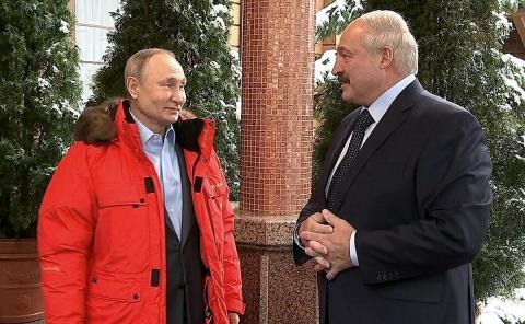 Рабочая встреча Владимира Путина и Александра Лукашенко в Сочи