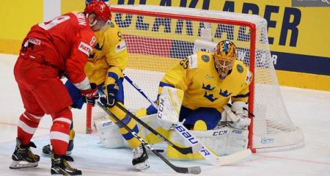 Россия - Швеция, групповой этап на ЧМ по хоккею 2019